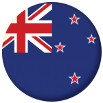 New Zealand Country Flag 25mm Pin Button Badge